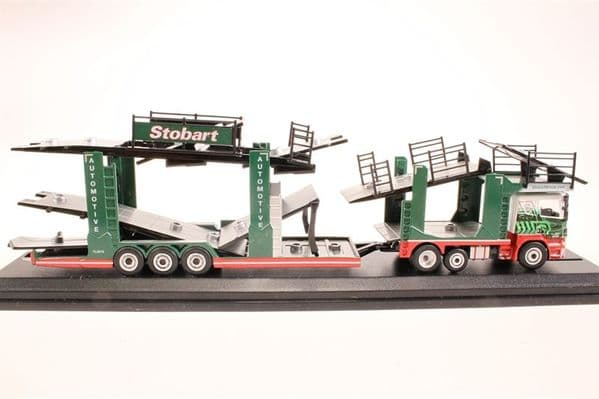 Oxford 76SCT001 SCT001 Scania EVO 6 Car Transporter Eddie Stobart Early Version Holds 12 1/76 Cars